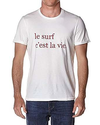 Cuisse De Grenouille T-shirt Le Surf Cest La Vie - WHITE RED - L