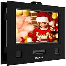 """COOAU Soporte para reposacabezas de coche para reproductor de DVD portátil de 9 """"- 9.5"""" con estilo giratorio y giratorio"""