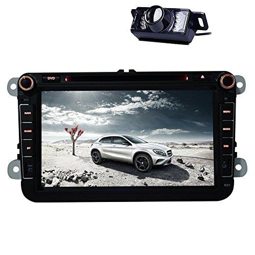 8-Zoll-Touchscreen VW Autoradio 2 L?rm GPS-Navigations-DVD-Player Bluetooth DVD / CD / USB / SD / MP4 / MP3-Player-Fernbedienung f¨¹r PASSAT B5 / MK5 2001-2005 / VW GOLF 2004-2009 / JETTA 1998-2005 / CHICO 2004- 2009 / BORA / POLO / MK3 / MK4 2000-2009 / SHARAN 2000-2009 / GOLF MK4 1997-2003