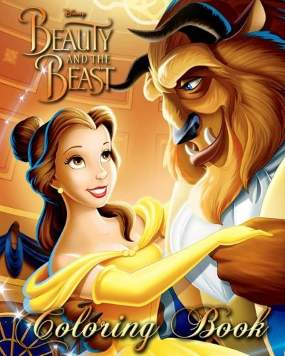Beauty and the Beast: Coloring Book for Kids and Adults, (Adult Disney Cartoon)