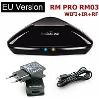 Broadlink RM Pro+ RM03 Inteligente casa Automatización WIFI + IR + RF Universalcontrol remoto Inteligente para Ios Ipad Androide EU enchufe