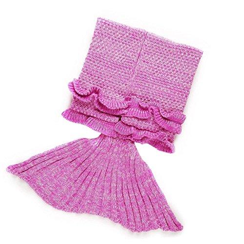 BabyIn Coda a mano a maglia Crochet Mermaid, Sacco a