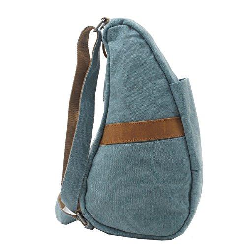Yy.f Männer Segeltuchtasche Brust Rücken Doppelseitig Gezeiten Beutel Kurierbeutel Freizeit-Segeltuchhandtaschen Rucksäcke Taschen Schulterbeutel Multicolor Blue