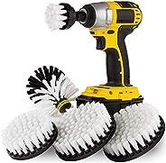 Kayak - Boat Accessories - Drill Brush - Car Wash Kit - Soft White Bristle Drill Brush - Wheel Rim Brush - Jet