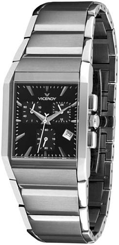Viceroy 47483-55 – Reloj de Caballero movimiento de quarzo con brazalete metálico negra