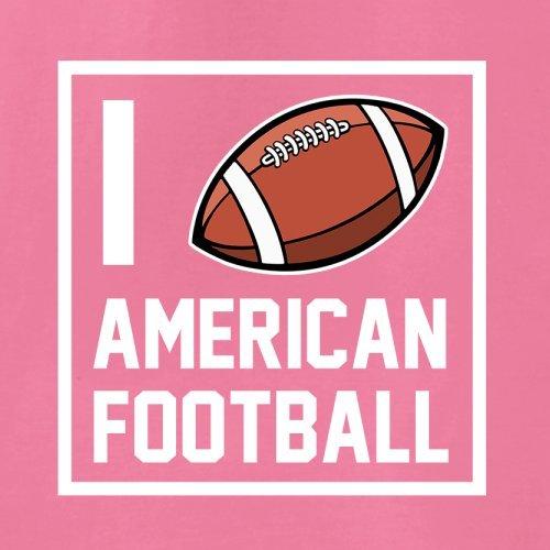 I Heart American Football - Unisex Pullover/Sweatshirt - 8 Farben Rosa