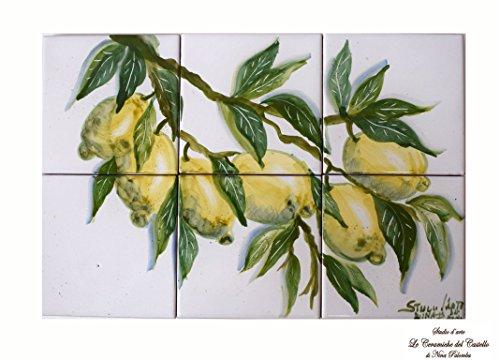 art-tiles-wall-tile-picture-plaque-indoor-outdoor-lemon-line-decorated-unique-manufact-handmade-le-c