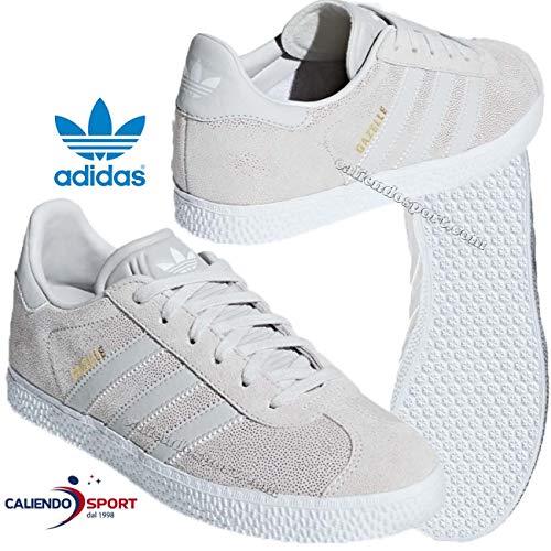 adidas Unisex-Kinder Gazelle J Fitnessschuhe, Weiß Griuno/Ftwbla 000, 36 2/3 EU