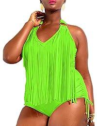 Sexy Strand Damen Bunt Umstandsmode Push-Up Badeanzug mit Quast Fransen Tassel Design in 4Farben