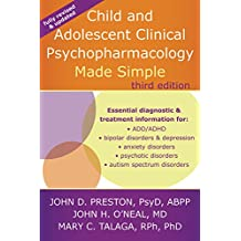 Child and Adolescent Clinical Psychopharmacology Made Simple (English Edition)