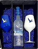 Grey Goose Geschenkset - Grey Goose Vodka 70cl (40% Vol) + 2x Kunststoff Gläser