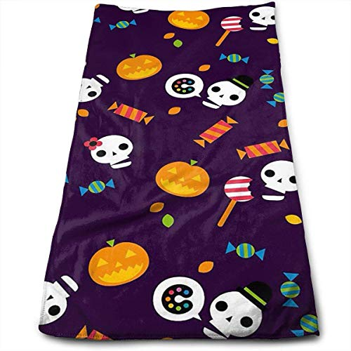 DDHHFJ Bath Towels Halloween Wallpaper Holiday Face Towels Highly Absorbent Washcloths Multipurpose Towels for Hand Face Gym and Spa 12