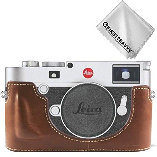 marrone Qualit/à premium Custodia Fondina in pelle sintetica per macchine fotografiche reflex compatibile con Fuji Fujifilm X-T100 XT100 con XC15-45 mm Lens