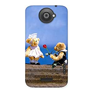 Premium Proposal Teddy Multicolor Back Case Cover for HTC One X