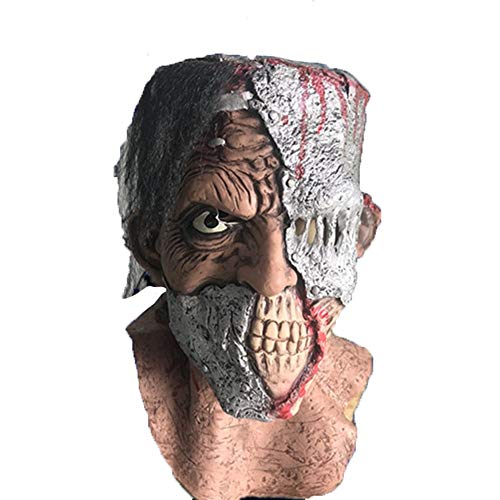 Scary Masken, Halloween Mad Man Gesichtsmaske Prom Kostüm Props Festival Party Dress Up Latex Kopf voller Masken