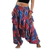 Princess of Asia Weite patchwork Hippie Hose Haremshose Aladinhose Pumphose für Damen & Herren 36 38 40 42 S M