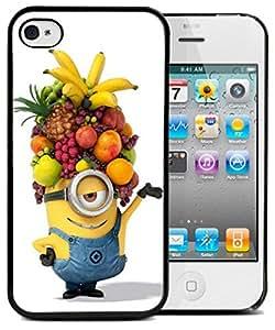 Coque silicone BUMPER souple IPHONE 5c - Ananas moche et mechant minion drole motif 2 DESIGN case + Film de protection OFFERT