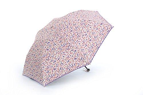 Honeystore Regenschirm 3-Falten Ultra Light Taschenschirm Koralle
