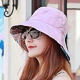 YANGFEIFEI-MZ Hat das Mädchen drei Farben zerdrückte Blume Garten wind Visor hats Sun-light Cap outdoor Hut, Mütze, pink