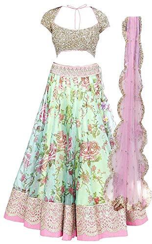 Simandra Fashion Girl\'s Satin Silk & Net Semi-Stiched Lehenga Choli (Kids_7-12 Year_Free Size)