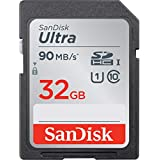 SanDisk 32GB Ultra SDHC UHS-I Memory Card - 90MB/s, C10, U1, Full HD, SD Card - SDSDUNR-032G-GN6IN