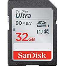 SanDisk Ultra 32 GB SDHC Memory Card up to 90MB/s, Class 10 UHS-I