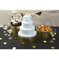 Jack Cube Cake Stand Set of 3, Cupcake Display Supplies Tray Plate For Decorative Party- MK197ABCG