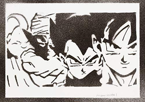 Póster Bola De Dragón Goku Vegeta Piccolo Monstruo