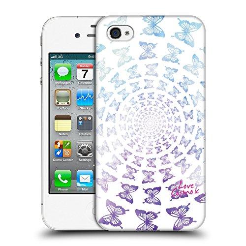 Official Cosmopolitan Spiral Butterflies Boho Hard Back Case for Apple iPhone X Butterflies