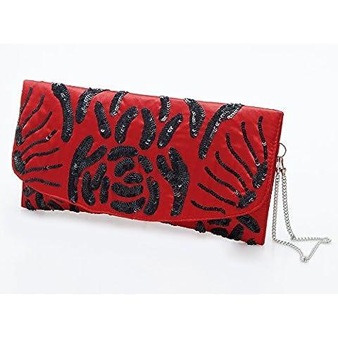 bolso sobre rojo y negro
