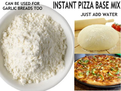 250g | Instant Pizza Base Mix **Free Uk Post** Just Add Water Pizza Base Flour Can Be Used For Garlic Breads Dough Balls Bread Sticks Calzone