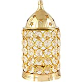 GURUKRIPA IND. Brass Akhand Diya Diamond Crystal Deepak / Dia Akhand Jyot Magical Lantern Brass Diya Decorative Brass Crystal Oil Lamp Tea Light Holder Lantern Puja Lamp / Birthday Candel / Lamp Candle / Room Décor Lamp / Room Lamp Home Déco