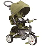 BABY'S CLAN Tricycle/Poussette Evolutif 6 en 1 Vert Olive