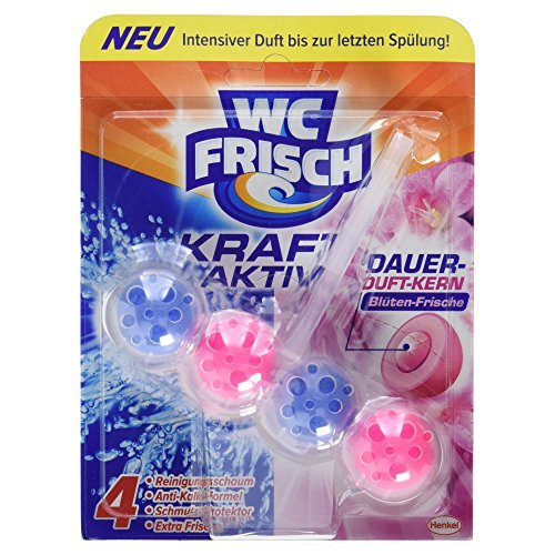 WC Frisch Kraft-Aktiv Duftspüler Blüten-Frische Paket, 50 g Test