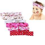 CANSHOW 6PCS Vendas de niña bebé, Turbante de bebé, arcos de bebé, Hairband recién nacido, Diadema de bebé chic-chic, envoltura de cabeza de bebé