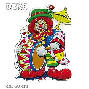 Wandbild Clown mit Trommel, Höhe ca. 60 cm, Wand-Deko, Dekoration