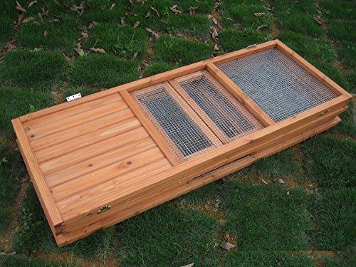 BUNNY BUSINESS Fully Folding Sheltered Rabbit Run Hutch, 48-inch 5