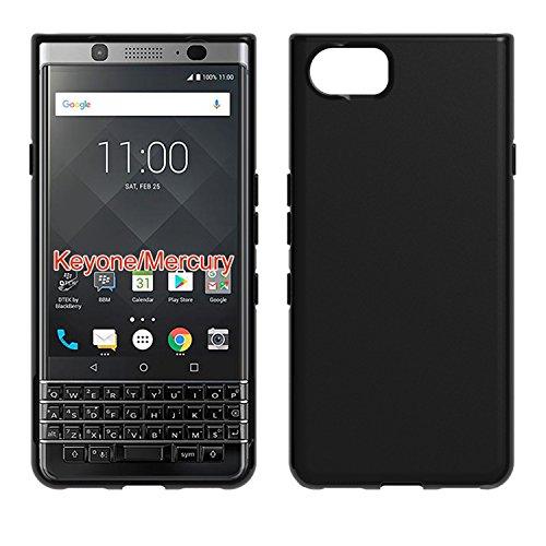 S.S. BlackBerry KeyOne Premium Qualitativ Hochwertige Hülle, Schwarz Matt Silikon Schutzhülle (Stoß- und Kratzfest) Elegantes TPU Case schwarz