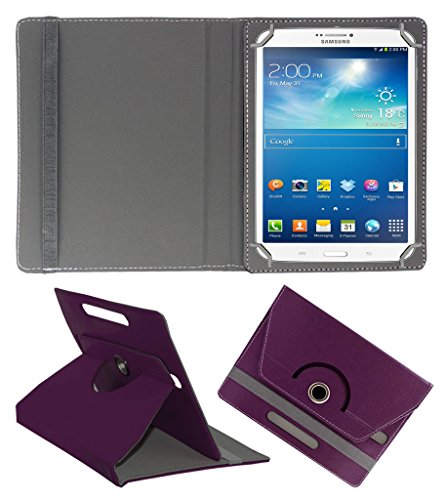 ACM ROTATING 360° LEATHER FLIP CASE FOR SAMSUNG GALAXY TAB 3 T311 TABLET STAND COVER HOLDER PURPLE  available at amazon for Rs.159