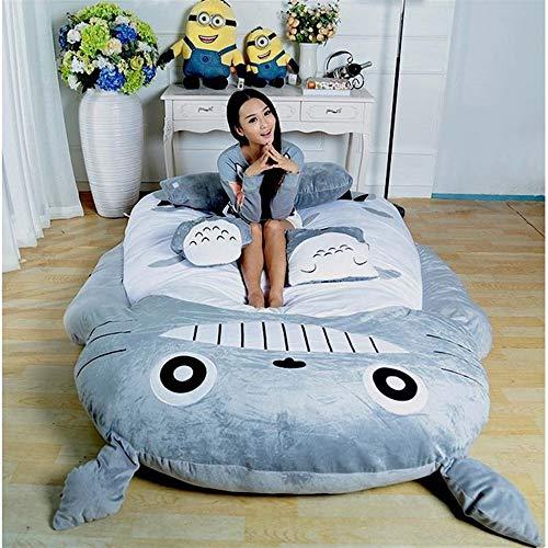 MMWYC Mein Nachbar Totoro Schlafsack Schlafsofa Einzelbett Doppelbett Matratze für Kinder Warm Cartoon Tatami Sitzsack Mein Nachbar Totoro Sofa / 47.2inches / 74.8inches (Size : 1.9m)