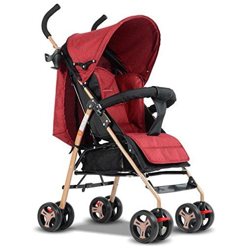 TLMY Einfaches Ultraleichtes Tragbares Kinderwagen Kann Faltenden Stoßdämpferschirm des Sitzens Stützen Kinderwagen