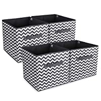 Anstore 4 Pack Foldable Storage Cubes Collapsible Fabric Organiser Container Storage Boxes Basket Bin With Dual Handles for Nursery Toys Drawers Laundry Clothes Books, 30 x 30 x 30 cm