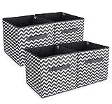 Anstore 4er-Pack Faltbare aufbewahrungsbox in Würfelform Aufbewahrungskiste faltbox 30 x 30 x 30 cm, Zick-Zack-Muster