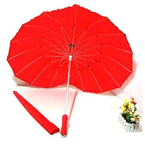 Frauen Outdoor Fashion Lovers Lange Regenschirm Kreative Herzförmigen Regenschirm , red , 60cm*8k (Frühling Schritt Schuhe Frauen)