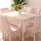 Country Style Check Tischdecken Stuhl Rückseite Bezug und Kissen Set, rose, 39