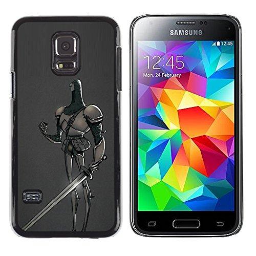 ild Hart Handy Schutz Hülle Case Etui Cover Schale Für Samsung Galaxy S5 Mini, SM-G800, NOT S5 REGULAR! - mittelalterlichen Ritter Märchen Schwert Held (Kunststoff-mittelalterliche Schwerter)