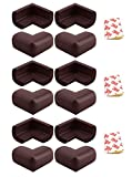 Grasshopr Pack of 12 THICK Baby Child Infant Kids Safety Safe Table Desk Corner Edge Cushions Guard Protector (Brown)