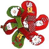Medias de Navidad Decoraciones Calcetines Decoración de Santa muñeco de nieve del reno Conjunto de 6