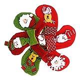 6pcs Socken Weihnachten Strumpf Weihnachtssocken Christmas Socks Dekoration Weihnachtsmann Schneemann Elch