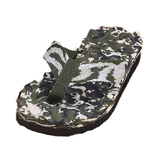 Rawdah - Zapatillas de estar por casa de goma eva para mujer verde verde